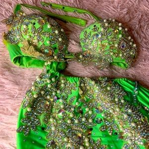 Lime Green Belly Dance Costume